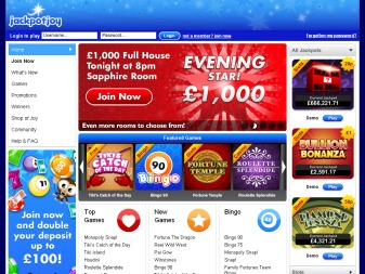 Jackpotjoy - Play for a grand jackpot of £1,000,000 at JackpotJoy!